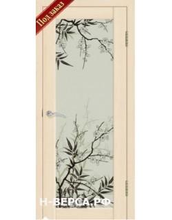 Дверь Сиб-профиль фото Сакура ясень латте (заказ)