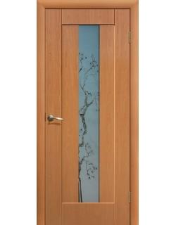Дверь Сиб-профиль Японская вишня ПВХ миланский орех ПО
