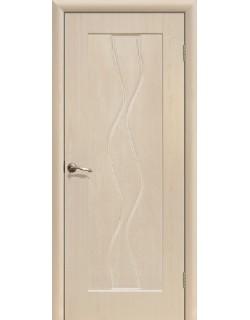 Дверь Сиб-профиль Водопад ПВХ беленый дуб