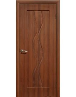 Дверь Сиб-профиль Водопад ПВХ итальянский орех