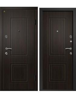 Входная дверь Орфей -211 (Классика), Сатин черный, Венге лайн Ретвизан