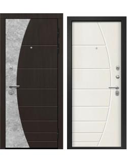Входная дверь Орфей - 231, Сатин черный, Тангент Перламутр Ретвизан