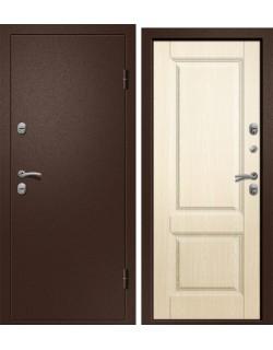 Входная дверь Триера-100, медь-антик, Дуб беленый Ретвизан