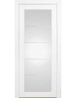 Межкомнатная дверь XL07 mirage,  белый монохром