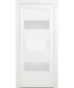 Межкомнатная дверь XL04, белый монохром