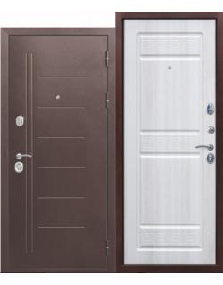 Входная дверь Троя 10см Медный антик белый ясень