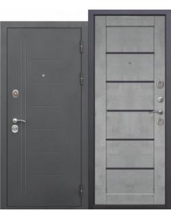 Входная дверь Троя 10см Маур Бетон серый царга
