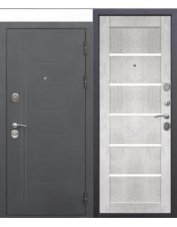 Входная дверь Троя 10см Маур Бетон снежный царга