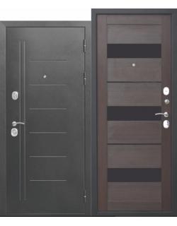 Входная дверь Троя 10см Серебро Темный кипарис царга