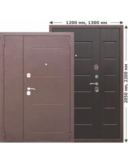 Двустворчатая входная дверь Гарда венге