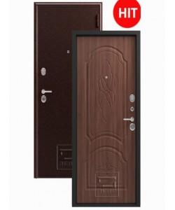 Дверь Зевс 6 (медь-орех) сейф-дверь! Утеплитель! ХИТ!