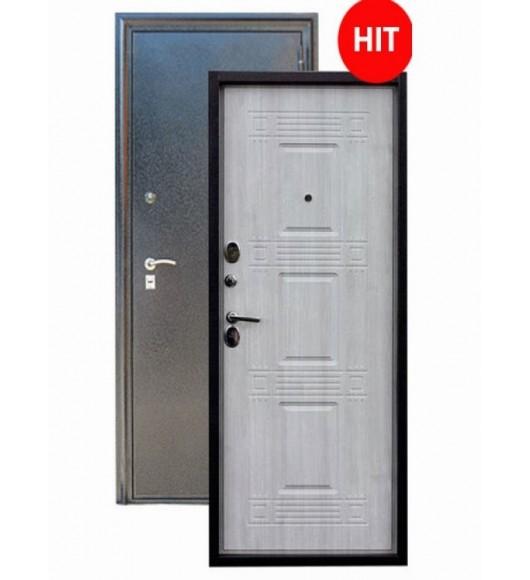 Дверь Зевс Z-6 (серебро-седой дуб) сейф дверь! Утеплитель! ХИТ!